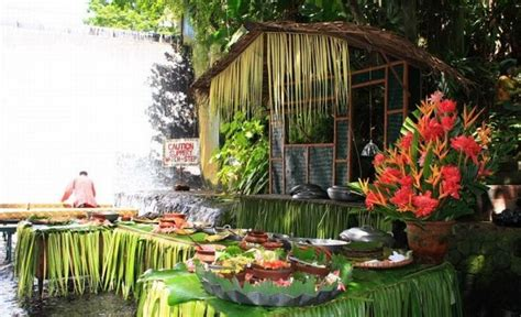 villa escudero waterfalls restaurant waterfalls restaurant in villa escudero philippines