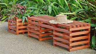 box crib style outdoor bench and planter