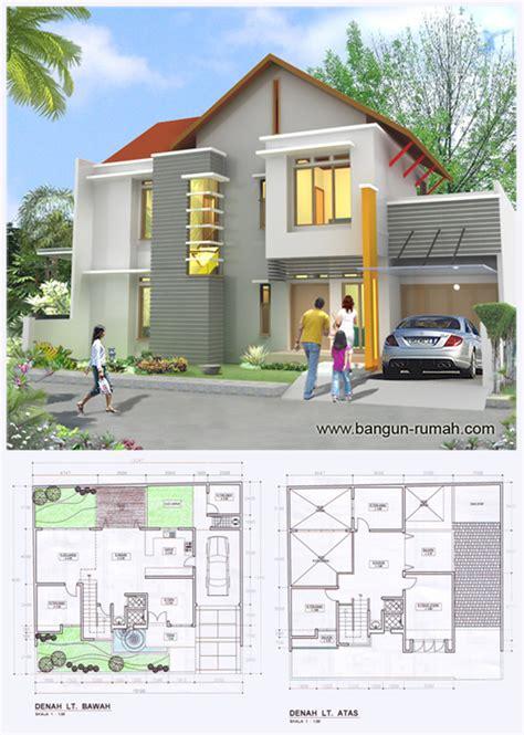 desain rumah  lantai ukuran tanah   muka