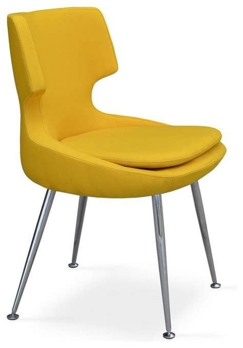 Yellow Upholstered Dining Chairs Upholstered Chair In Yellow Midcentury Dining Chairs By Shopladder