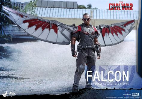 Miniatur Falcon 008 Captain America Civil War Marvel captain america civil war falcon by toys the toyark news