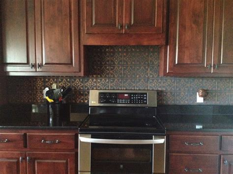 tin kitchen backsplash tin ceiling tile installed traditional kitchen other