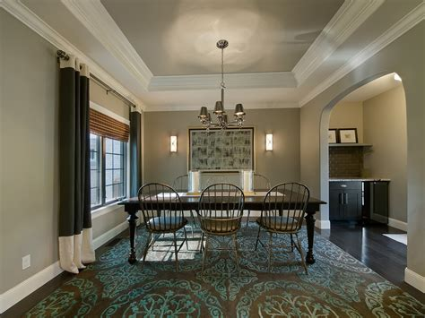 Eclectic Dining Room Chairs by Great Tray Ceiling Vs Coffered Ceiling Decorating Ideas