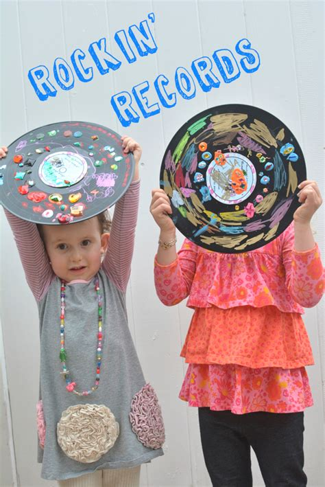 easy recycled crafts for rockin records easy project for recycled