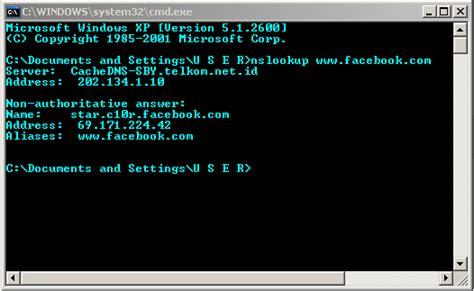 tutorial hack facebook dengan cmd cara melihat ip sebuah website dunia belajar