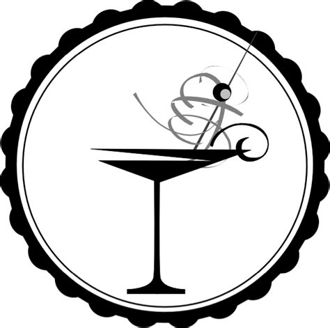 cocktail clipart black and white black and white martini glass clip at clker com