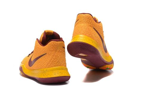 cleveland cavaliers basketball shoes cleveland cavaliers nike kyrie irving 3 shoes yellow wine
