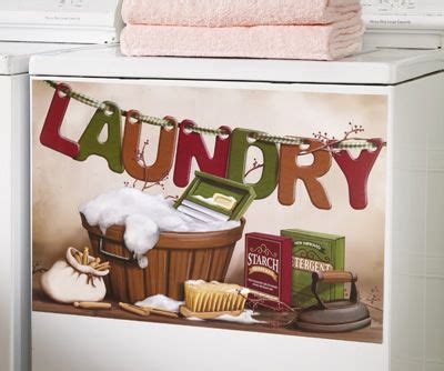 oldtime laundry magnetic decorative washer cover laundry