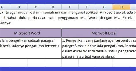 membuat html paragraf lepas lagi cara membuat paragraf di dalam microsoft excel