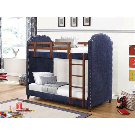 Upholstered Bunk Bed Coaster Upholstered Bunk Bed In Blue 460380