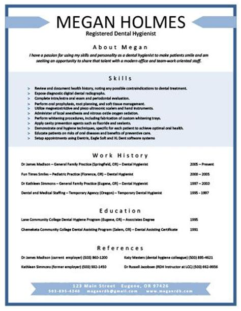 dental hygiene resume sles cool resumes other and resume on