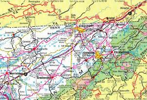 road map of tennessee and interstate guide interstate 181 tennessee