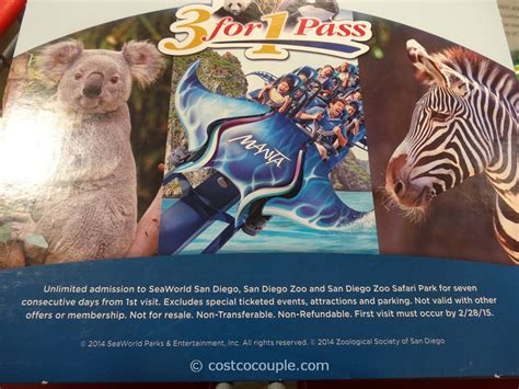 Sea World Gift Cards - san diego zoo 3 in 1 pass gift card
