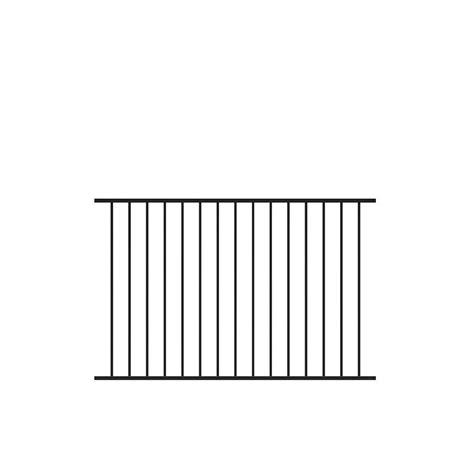 tuffbilt beechmont 4 ft h x 6 ft w black aluminum fence