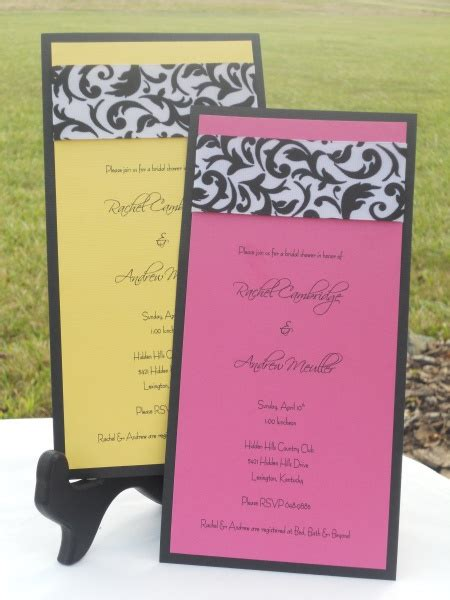 Handmade Bridal Shower Invitations - handmade bridal shower invitation ideas
