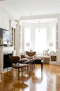 Build A Window Seat With Storage - white walls wood floors a gallery woodflooringtrends