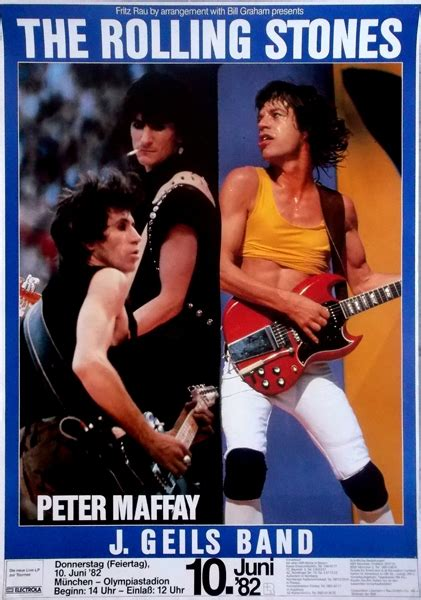 Mondkalender März 2014 5338 by Rolling Stones 1982 06 10 Konzerplakat M 252 Nchen