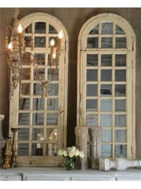 retired home interior mirrored window pane shutters wall hanging antiques mirror and window on pinterest