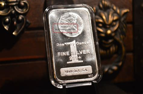 1 Troy Oz Silver Bar - 1 oz silver bar 999 silver walking liberty design in
