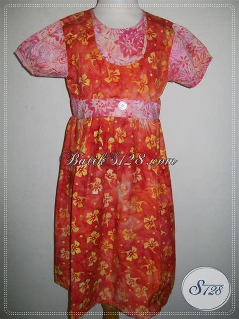 Batik Sarimbit Batika Baju Anak Lucu Murah Warna Oranye Pink A011cs Toko