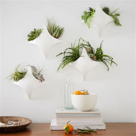 west elm wall planter curved tile wall planter west elm