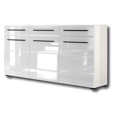 kleiderschrank weiß hochglanz 150 cm breit sideboard kommode anrichte clara 150 cm breit in wei
