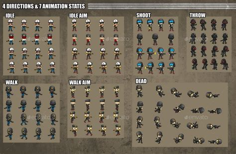 soldiers game sprites  pzuh graphicriver
