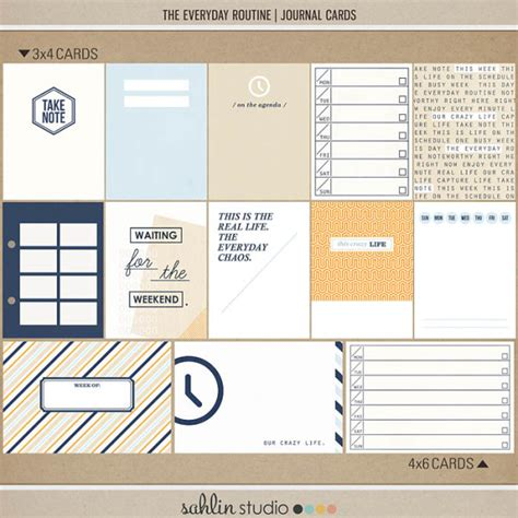 digital design journal the everyday routine journal cards sahlin studio