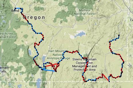 map of oregon deserts oregon desert trail clegg thru hiking
