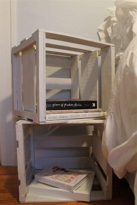 crate nightstand 60 diy bedroom nightstand ideas ultimate home ideas