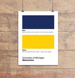michigan colors michigan wolverines colors print sproutjam