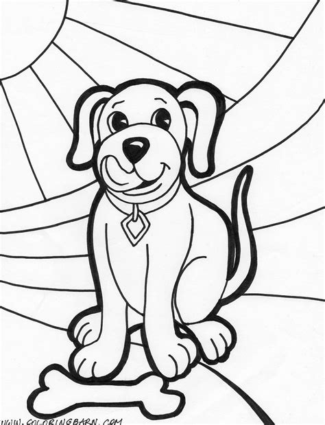 Free Printable Puppy Coloring With Puppy Color Pages Coloring Pages Puppy And Ribbon