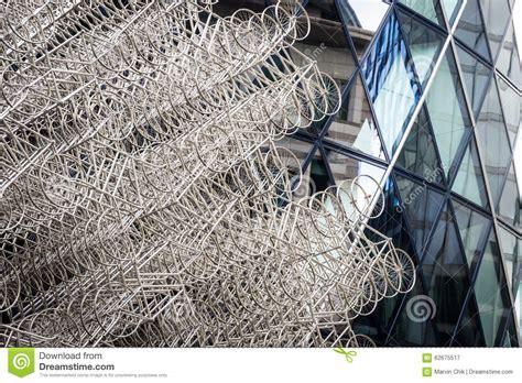 london pattern metal works metal bicycle sculpture editorial photography image