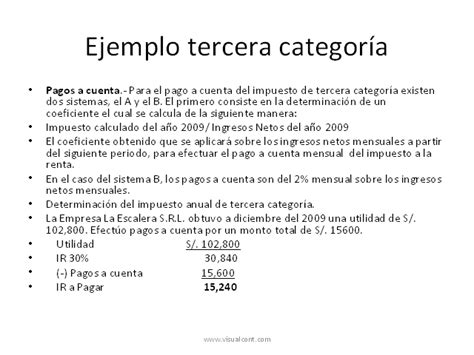 calculo del impuesto a la renta 2015 ejemplo un ejemplo como calcular el impuesto a la renta 2015 un
