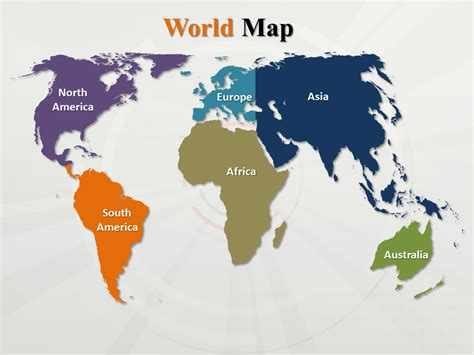 powerpoint world map outline continents template tattoo