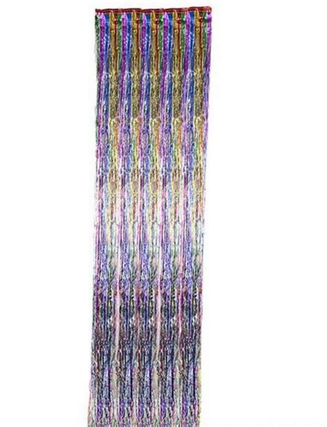 foil fringe curtains dr16665 rainbow foil fringe curtain