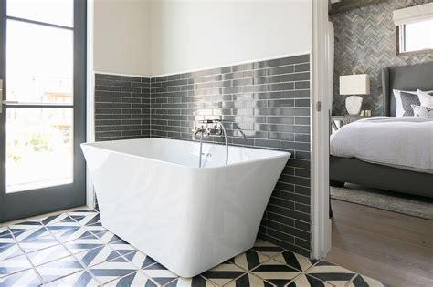 Charcoal grey bathroom tiles transitional bathroom