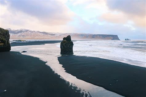 black beaches black sand beach iceland winter pixmatch search with