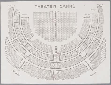 carre amsterdam plattegrond bespreekplan van theater carr 233 het geheugen van