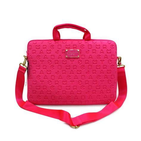 marc  marc jacobs pop pink neoprene   laptop bag
