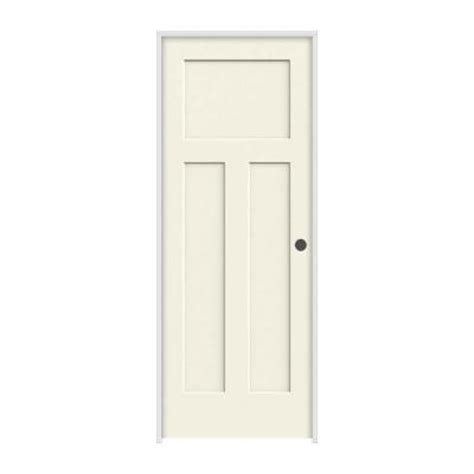 3 Panel Craftsman Interior Door Jeld Wen Craftsman Smooth 3 Panel Solid Painted Molded Single Prehung Interior Door