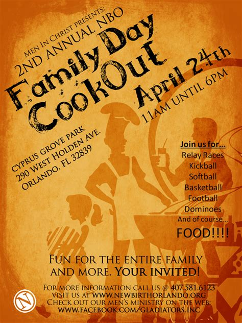 Cookout Flyer Template gladiators stand up