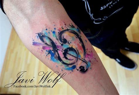 watercolor tattoo music watercolor mecca