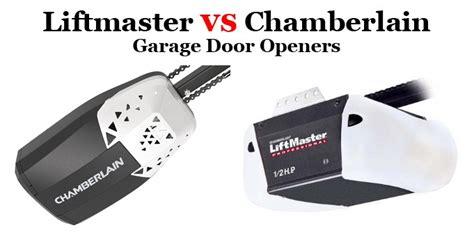 liftmaster garage door openers liftmaster vs chamberlain garage door openers