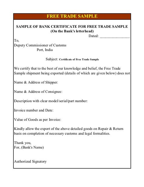 Bank Waiver Letter For Export Export Documents