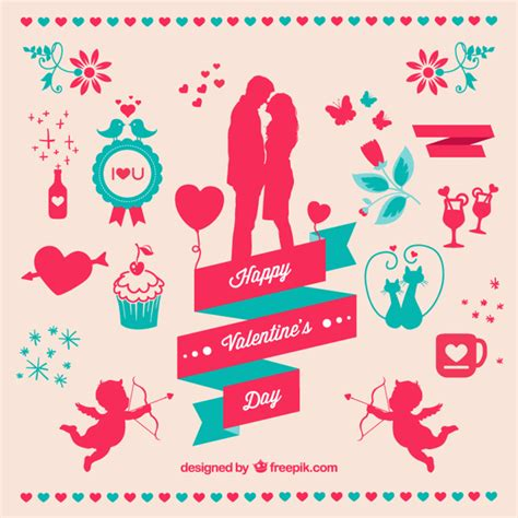 free valentines vectors s day elements set vector free