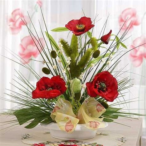 simple flower arrangements for tables 15 gorgeous red poopy flower arrangements and remembrance
