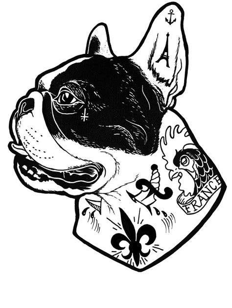 french tattoo designs 25 best ideas about bulldog on