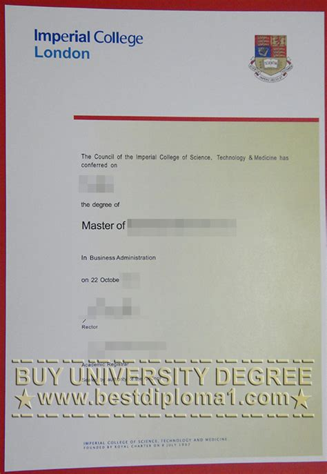 Imperial College Executive Mba Ranking by Imperial College Degree Novelty Ic Diploma