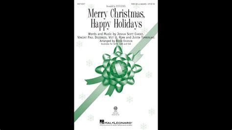 merry christmas happy holidays sab choir arranged  roger emerson youtube